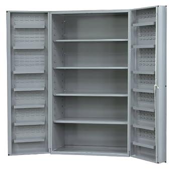 Durham Heavy Duty Welded 14 Gauge Steel Cabinet With 12 Door Shelves,  DC36 4S12DS