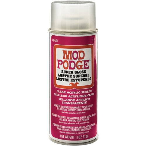 - Mod Podge Acrylic Sealer (11-Ounce), 1450 Super Gloss