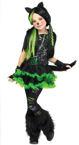 Fun World Girls Kool Kat Costume, Black, Small (Monster Girl Adult Costumes)