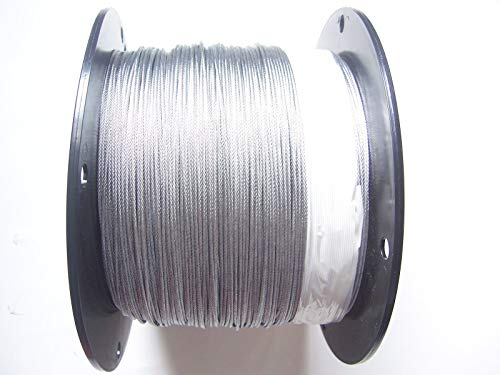 """Galvanized Snare Cable 1/16"""", 1x19, 2500 ft Reel, Snaring Trapping Supplies"""