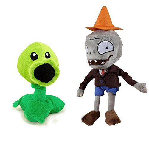 Generic Toyswill Plants Vs Zombies Plush Toys Conehead Zombie 10   Peashooter 17Cm 6 7  Tall Plush