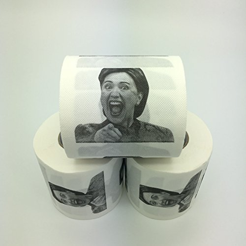 Laughing Hillary Clinton Toilet Paper, Novelty Political Gag Gift