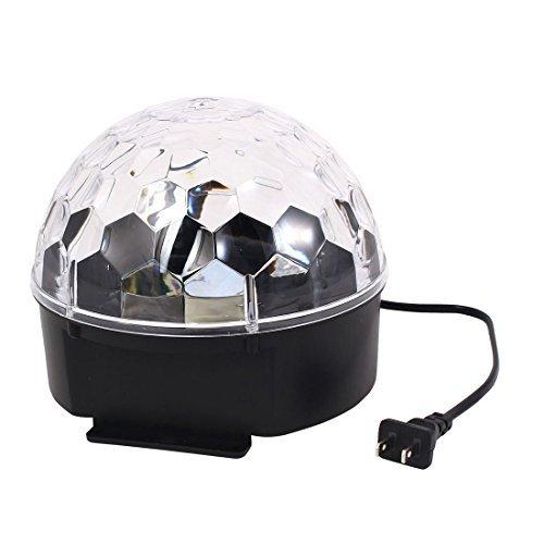 DealMux AC100V-240V US Plug Disco DJ Stage Lighting RGB Crystal LED Magic Ball Light Digital Lamp ()