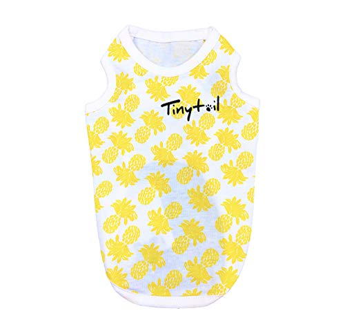 Tinytail Pineapple Dog Shirts Pet Apparel Cute Pullover T-Shirts Comfort Yellow Dog Clothes Puppy Cat Clothes