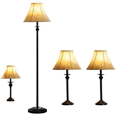Better Homes and Gardens 4pc Lamp Set (Bronze)