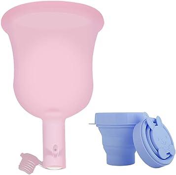 Menstrual Cup-Care para la salud femenina, copa de cuidado de la salud menstrual más grande y reutilizable (L) + taza esterilizadora plegable