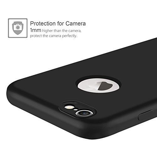 iPhone 7 Hülle schutzhülle, Leathlux iPhone 7 Silikon Case 2 in 1 Hybrid Dual-Layer Schutzrahmen Anti-Scratch Schutzhülle Bumper Stoßfest Handyhuelle für Apple iPhone 7 Cover