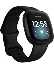 Fitbit Versa 3 Health & Fitness Smartwatch with GPS, 24/7 Heart Rate, Alexa Built-in, 6+ Days Battery