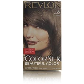 revlon coloration colorsilk 50 chtain cendr clair 5a - Coloration Chatain Cendr
