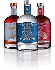Lyre's Rosa Negroni Non-Alcoholic Set (Pack of 3) | Dry London (Gin Style), Aperitif Rosso (Sweet Vermouth Style) & Italian Spritz (Aperol Style) | Award Winning | 700ml X 3