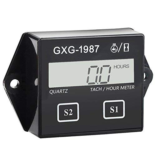 GXG-1987 Digital Hour Meter Tachometer Tach Tacho for Yamaha Honda Kawasaki BMW by GXG-1987