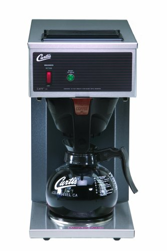 Wilbur Curtis Commercial Pourover Coffee Brewer 64 Oz Coffee Brewer, 1 Station, 1 Lower Warmer - Coffee Maker with Fast-Brewing System - CAFE1DB10A000 (Each) by Wilbur Curtis