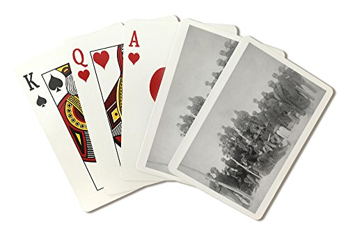 Black Buffalo Soldiers of the 25th Infantry - Vintage Photograph (Playing Card Deck - 52 Card Poker Size with - Cards Playing Soldiers