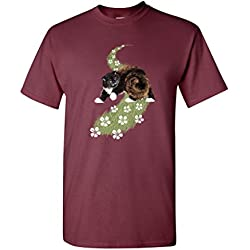 All Seeing Cat Animal Pet Tanya Ramsey Artworks Art DT Adult T-Shirt Tee (Small, Maroon)
