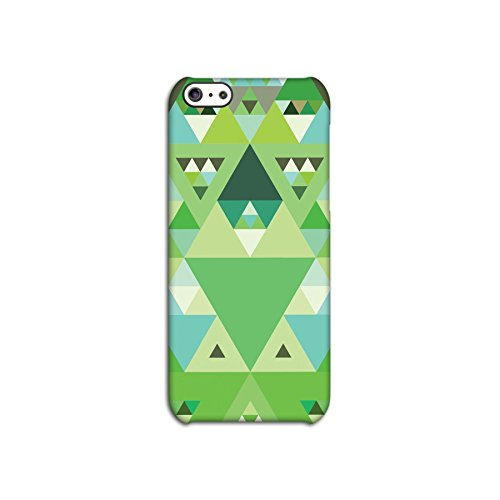 Green Triangles Geometric Deflector Back Case for Apple iPhone 5C