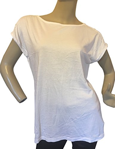 talbots-womens-cotton-buttoned-sleeve-top-blouse-shirt-m-white