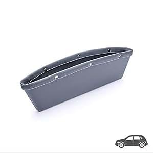 xinnn 2pcs coche bolsillo organizador GAP Filler asiento de coche Catch Caddy de almacenamiento Caja asiento consola brecha Catch para coche gadget (color: gris)