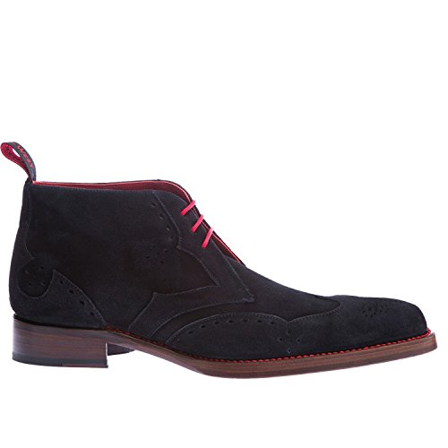 Stivaletto Jeffery West Dexter Cut In Pelle Scamosciata Blu Scuro