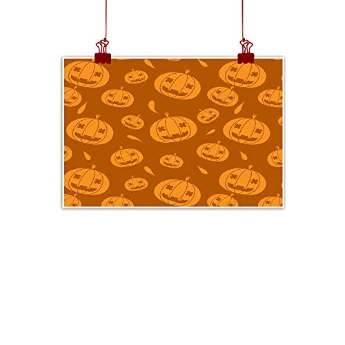 Mannwarehouse Living Room Decorative Painting Halloween Pumpkin Seamless Pattern Vector Illustration Modern Minimalist Atmosphere 35