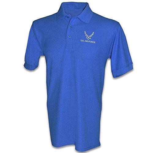 Honor Country US Air Force USAF Polo Golf Shirt - Royal Blue