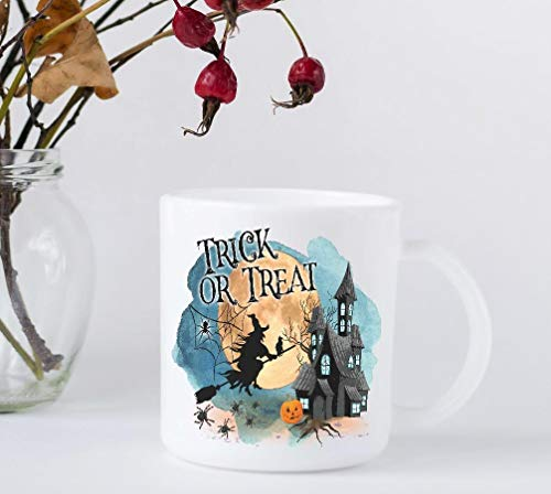 Halloween Coffee Mug - Trick or Treat - Gift for October Birthday -