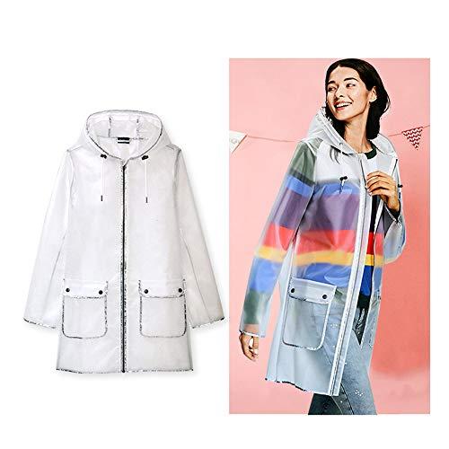 Imperméable De Size White Xl color Extérieur Geyao Respirant Dames Manteau Transparent Red SPzXEq