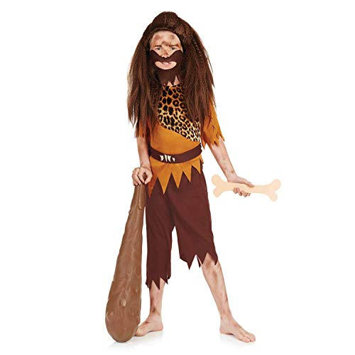 fun shack FNK4304L-US Boys Caveman Costume Kids Historical Stone Age Outfit - Large