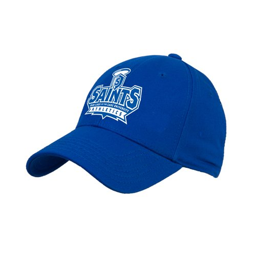 OLLU Royal Heavyweight Twill Pro Style Hat 'Our Lady of the Lake University Athletics - Offical Logo' by CollegeFanGear