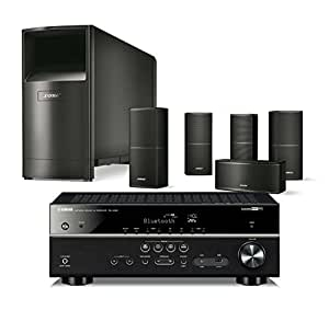 bose acoustimass 10 series v wired home theater speaker system black with yamaha. Black Bedroom Furniture Sets. Home Design Ideas
