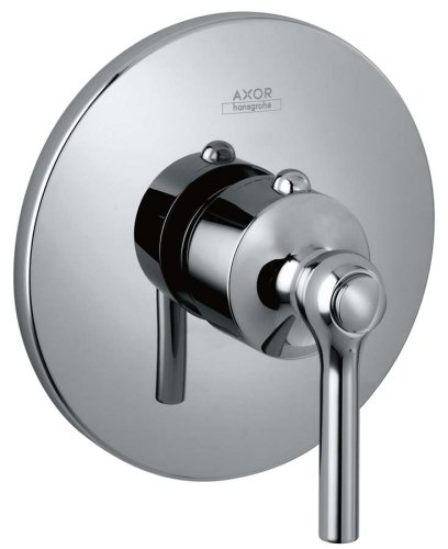 Hansgrohe Axor Terrano Trim, Ecostat Thermostatic Mixer with Lever Handle, Polished Chrome (Hansgrohe Thermostatic Mixer)