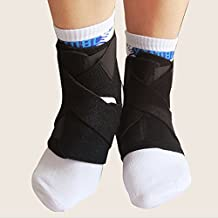 Meanhoo 1 PCS Ankle Protective Breathable Neoprene Ankle Support Brace Accelerated Recovery Reduced Muscle Fatigue Breathable & Comfortable Compression - One Size Black