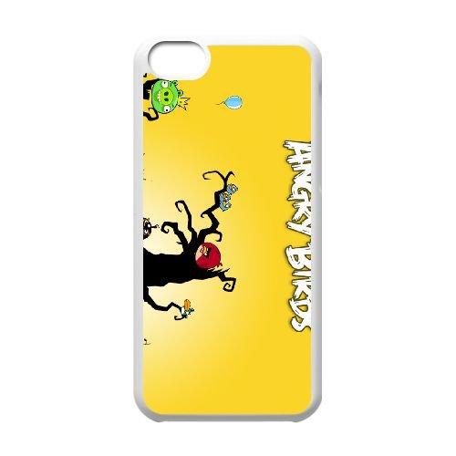 Angry 008 coque iPhone 5c cellulaire cas coque de téléphone cas blanche couverture de téléphone portable EEEXLKNBC26797