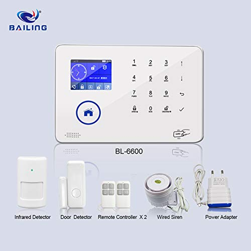 3G + WiFi Home Security System Professional Wireless GSM Remote Control Intelligent TFT Display Voice Prompt Wireless Burglar Alarm House Business Auto Dial BL6600
