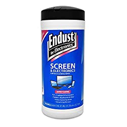 Endust For Electronics, Screen Cleaning Wipes, Surface Cleaning, Great Lcd & Plasma Wipes, 70 Count (11506)