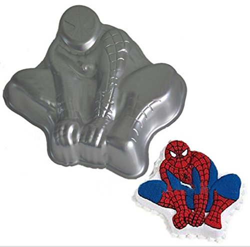 ZJWEI 11 Inch Plane Aluminum Alloy 3D Cake Mold Baking Mould Tin Cake Pan -Spiderman
