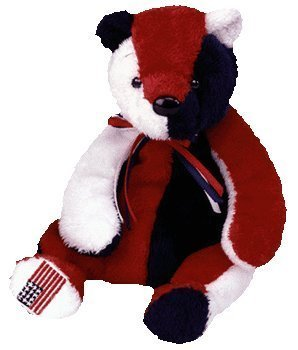 f6bf99538cf Image Unavailable. Image not available for. Color  TY Beanie Baby - PATRIOT  the Bear ...