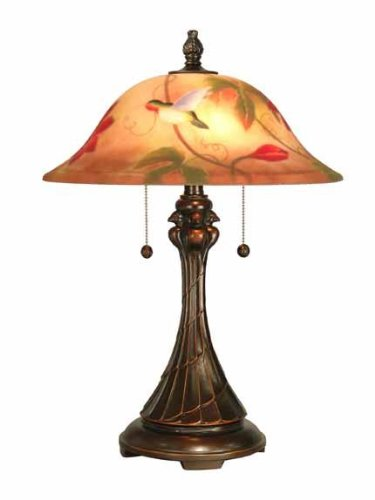 Dale Tiffany RT60278 Hand Painted Tropical Sun Table Lamp, Antique Golden Sand