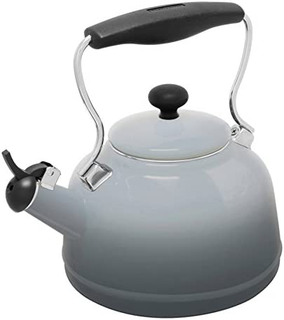 Chantal 37 OM FG Lake Teakettle Tea Kettle, 1.7 Qt, Faded Grey