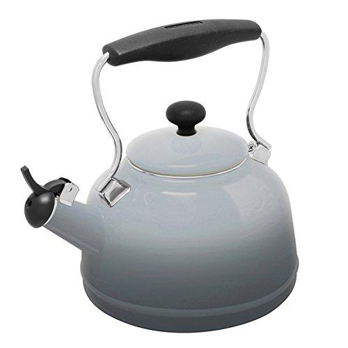 - Chantal Lake Grey Enamel-on-Steel 1.7 Quart Vintage Teakettle