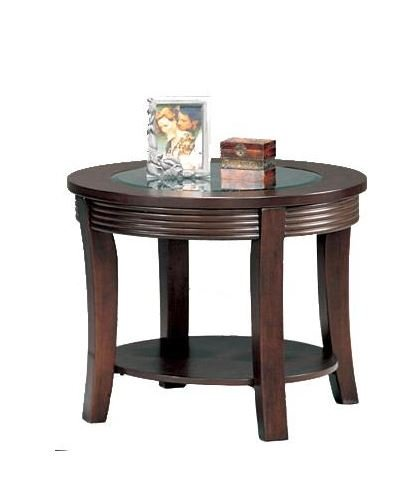 Coaster Furniture 5524 Simpson Round End Table with Glass To