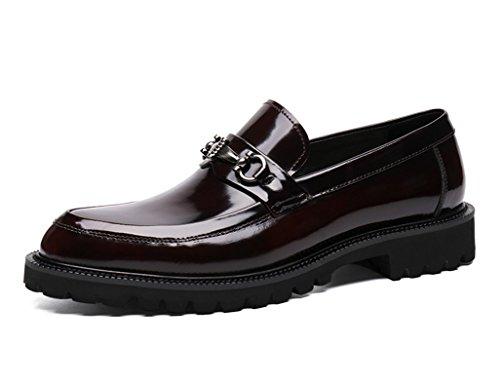 Herren Lederschuhe Herren Lederschuhe Business Formelle Formelle Formelle Kleidung britischen Stil Anzug Hochzeit Schuhe Herrenschuhe ( Farbe : Schwarz , größe : EU38/UK5.5 ) Weinrot fe6519