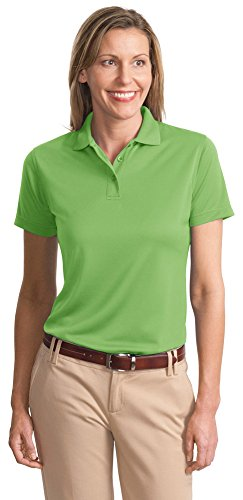Port Authority Ladies Bamboo - Port Authority® Ladies Poly-Bamboo Charcoal Blend Pique Polo, Vibrant Green, XXXX-Large