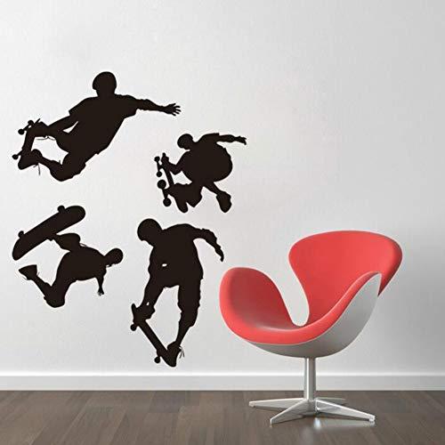 wintefei Cool Skateboard Boy Wall Sticker Decal Living Room Kids Bedroom Wallpaper Decor