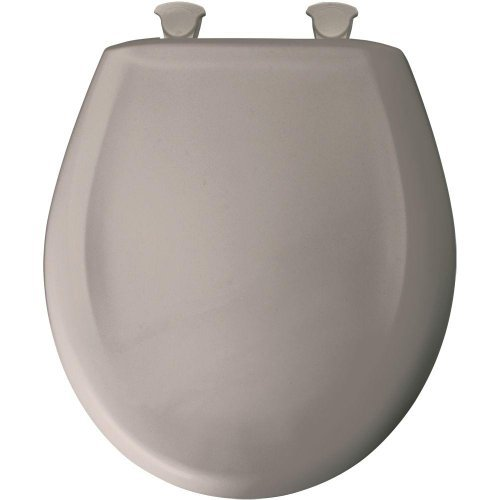 Bemis 200SLOWT 368 Slow Close Sta-Tite Round Closed Front Toilet Seat, Light Mink by - Front Mink