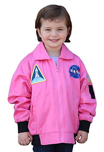 (Aeromax FJP-YLG NASA Flight Jacket, Youth, Large,)
