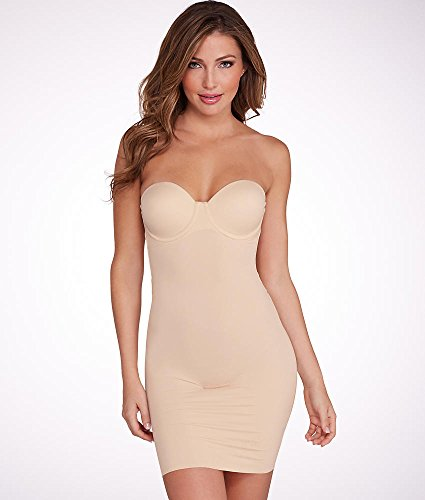 Flexees Women's Maidenform Shapewear Endlessly Slip with Foam Cups, Latte Lift, 34C -