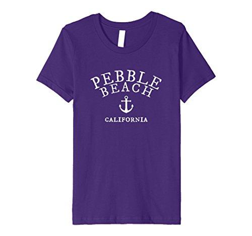 Beach Kids T-shirt (Kids Pebble Beach California T-Shirt, CA Sea Town Tee 8 Purple)