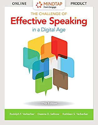 MindTap Speech for Verderber/Verderber/Sellnow's The Challenge of Effective Speaking in a Digital Age, 17th Edition