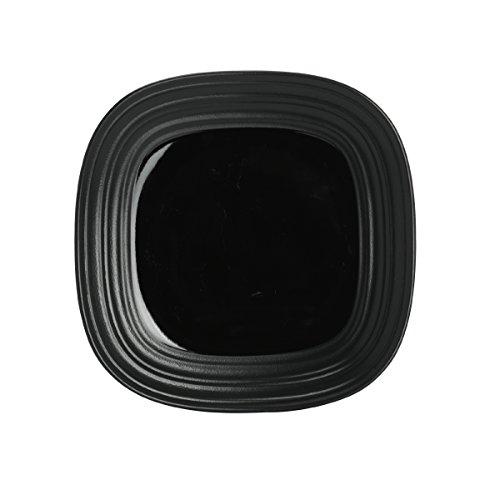 Mikasa Swirl Black Square Salad Plate, (Mikasa Square Plate)