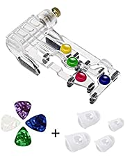 Guitar Learning System,Guitar Beginner Tools,Guitar Learning Tools,Guitar Helper Beginners,Guitar Trainer Chord,Cord Guitarra Accessory,Teaching Tools,Guitar Finger Trainer with Protector and Picks